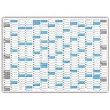 XXL Wandkalender DIN A0 2018 gerollt (blau2) - Sehr groß im DIN A0 Format mit extra großen Tageskästchen (Jahreskalender werden gerollt versendet)