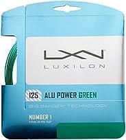 مجموعة خيط التنس من Wilson للجنسين للكبار من Luxilon Big Banger Alu Power 125 Le Gr - أخضر، 12. 2 متر