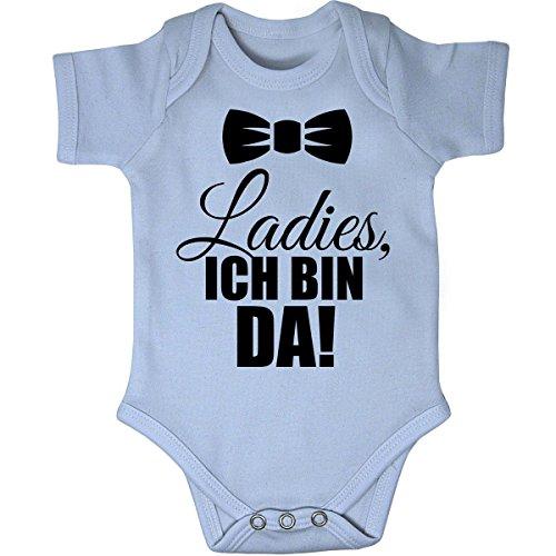 Mikalino Babybody Ladies, ich Bin da! Kurzarm, Farbe:Sky;Grösse:68