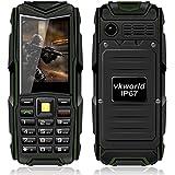 VKworld Piedra V3 IP67 a prueba de choques a prueba de polvo del teléfono móvil del banco de la energía espera largo del ejército al aire libre 5200mAh + 64 MB de RAM 64 MB de red GSM ROM (Verde)