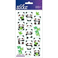 Sticko Classic Rolly Polly Panda Stickers