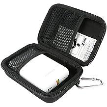 Khanka Duro EVA Viaje Estuche Bolso Funda Case para Polaroid Zip Impresora fotográfica portátil / Polaroid SNAP Cámara digital instantánea. Mesh Pocket Fits Polaroid Papel fotográfico ZINK 2x3 pulgadas (5 x 7,5 cm) - Negro