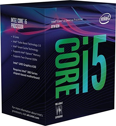 Intel Core i5 8600 - Procesador (3.1GHz, 4.3GHz Turbo, 9MB Cache, 1150MHz GPU, 65W) Color Plata