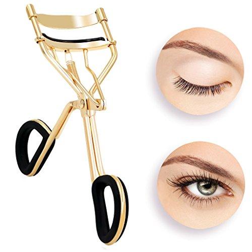 [Avec 6 remplaçants] Hibote recourbe cils pour maquillage professionnel pince à cil pour yeux or
