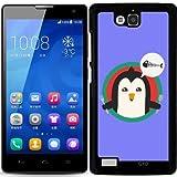 Hülle für Huawei Honor 3C - Pinguin Mit Besteck Und by ilovecotton