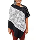 Morph Maternity - White And Black Nursing Cover - Elegant & Stylish, Perfect For Pre & Post Pregnancy …