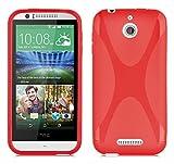 Coque HTC Desire 510 en ROUGE CERISE de Cadorabo (Design X) Housse en Gel TPU Silicone Souple Ultra Mince avec Anti Choc – Coque de Protection Etui Case Cover Ultra Slim Fine Bumper