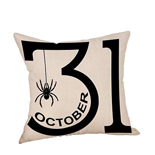 XINAINI Kissenbezug, Halloween Wohnkultur 3D Drucken DekokissenhüLle,Dekokissen Fall Sofa Auto KissenhüLle Home Bed Decor 45 X 45 cm