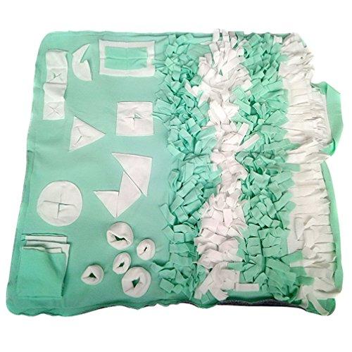 JEELINBORE Alfombrilla de Entrenamiento Cojín de Entrenamiento a olfatear para Perro Lavable Paño Suave para Mascotas (Verde, M: 65 * 100cm)