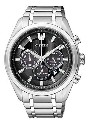 Citizen Super Titanium - Reloj de cuarzo para hombre, correa de titanio color plateado de Citizen