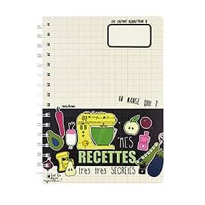 Cahier à Recettes de Cuisine TRES TRES SECRETES Carnet Mémo - Dlp Derrière La Porte