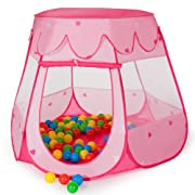 Tenda da gioco per bambini con 100 fantastiche palline colorate che farà entusiasmare vostro figlio.  In poche parole: il gioco ideale per ogni bambino!  Caratteristiche principali:  L'ingresso può rimanere aperto o essere chiuso  Buona venti...