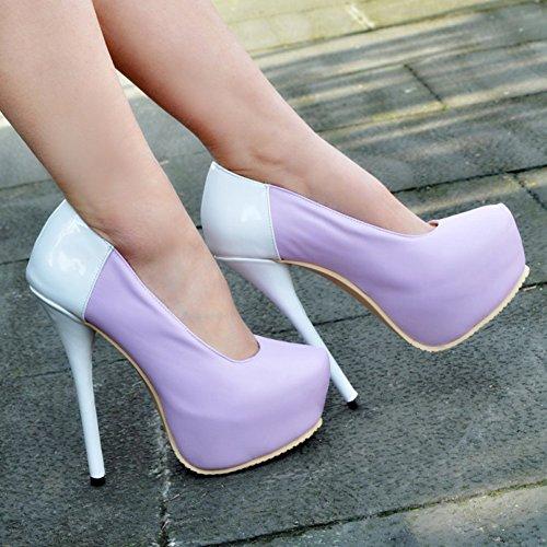 Festa De Bombas Baile Senhoras Twotone Sapatos Plataforma Vestido Kolnoo Vendas Rodada Céu Toe O0qzwxBO