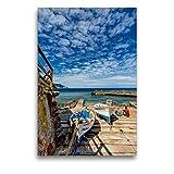 CALVENDO Lienzo Premium de 50 cm x 75 cm de Alto, Mallorca romántico Puerto de Valldemossa, Imagen sobre Bastidor, Imagen Lista en Lienzo auténtico, impresión en Lienzo Lugar Lugares