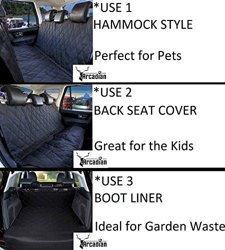 Arcadian-Dog-Car-Seat-Cover-Impermeabile-e-a-Prova-di-Graffi-coprisedili-Posteriore-Antiscivolo