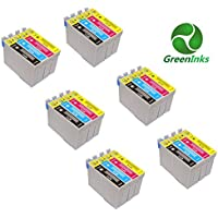 Compatible Printer Inks Cartridges to replace Epson T0711 T0712 T0713 T0714 (T0715) (6 Set = 24 inks)