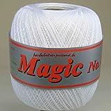 Häkelgarn 100 Gramm Baumwolle-Filet-Garn weiß häkeln - Magic Stärke Nm 17/3 Farbe weiss_101