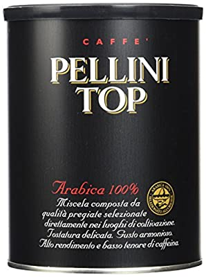 Pellini Top Arabica 100% Ground Coffee Tin 250 g (Pack of 2)