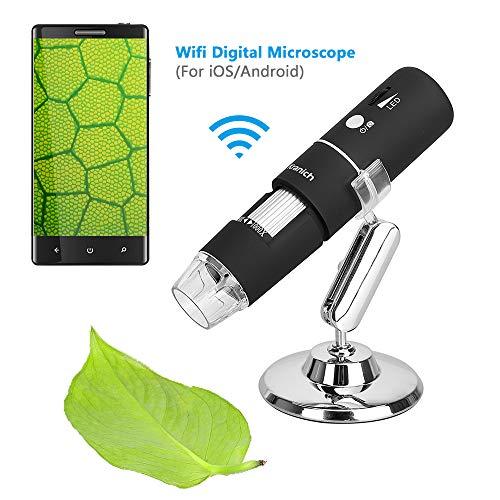 WiFi Mikroskop für Kinder digital Kamera Microscope 1000 x Vergrößerung Magnification, mit 8-LEDs für PC Computer Windows IOS Android Handys - Handy-mikroskop
