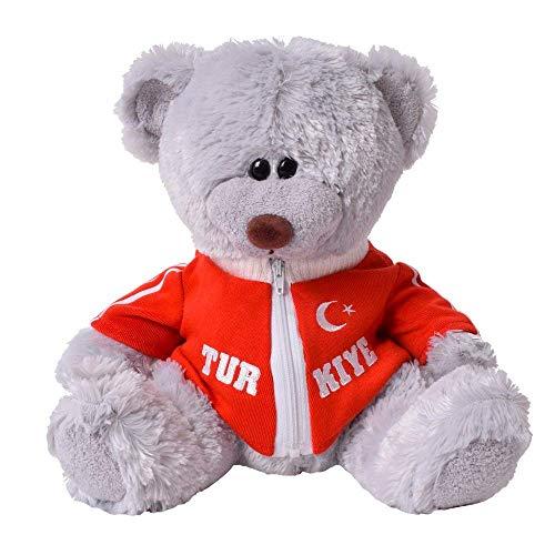 TE-Trend Plüsch Teddybär Kuschelbär Kuscheltier mit Sweatjacke Türkei 33cm