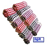 #9: SGR Store Pack of 12 Cleaning Cloth \ Kitchen Towel Multipurpose Kitchen Napkin Table Wipe 15x15 inch