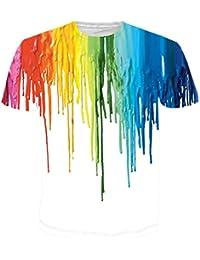 Leapparel Unisex Stilvolle Beiläufige Entwurf 3d Druckte Kurze Hülsen T Shirts Tees