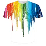 Leapparel Unisex Colorful Melting Paint Print Hip Hop Cool T Shirts Tees Tops XXL