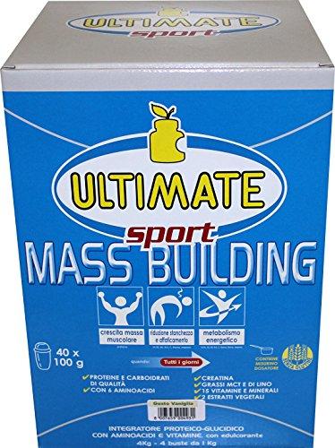 Ultimate Italia Mass B4 Building Gainer, Vaniglia - 4000 gr