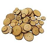 Sharplace 20/50 Stück Natur Kiefer Holz Scheiben Für Hochzeit Weihnachten Wohnkultur Mittelstücke - Farbe 1, 50pcs 2-4cm