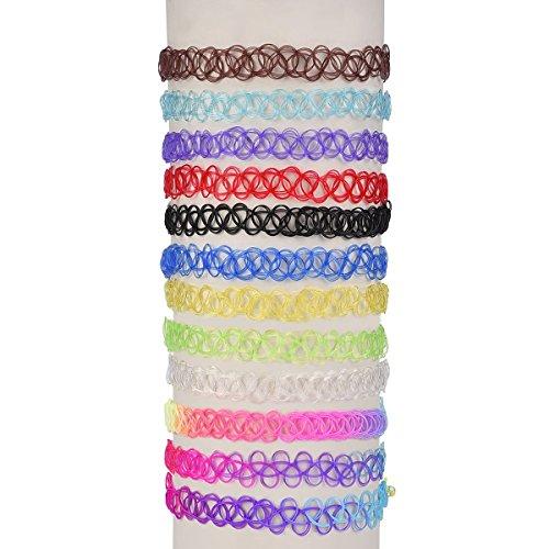 Preisvergleich Produktbild WINOMO 12pcs Tattoo Choker Halskette Stretch elastischen Choker Collier-Set