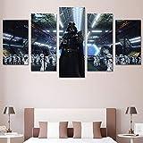 LHKAVE Leinwand Malerei Dekoration Wandkunst 5 Panel Star Wars Filme Für Wohnzimmer Moderne HD Gedruckt Modulare Bilder,A,20x30x220x40x220x50x1
