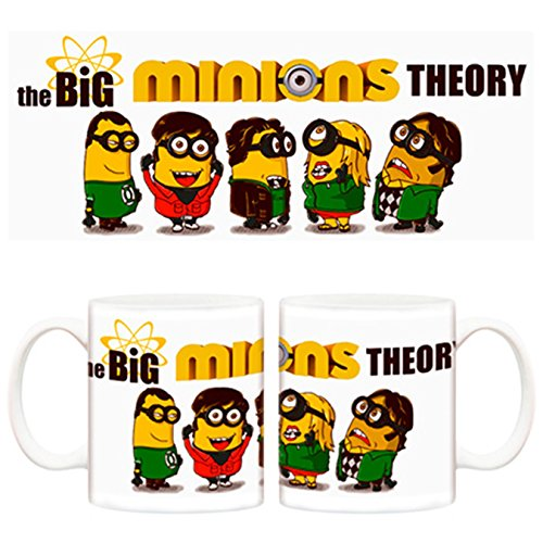 Taza Minions The Big Bang Theory Cooper Penny hofstadter Koothrappali y Wolowitz