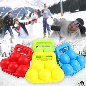 CoURTerzsl Schneeball-Clip, Winter Schneeball Maker Outdoor Sport Schnee Form Schaufel Clip Kinder Spielzeug Zubehör