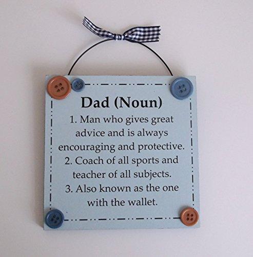 Funny dad significato festa del papà targa in legno