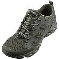 FREE SOLDIER Zapatos de Senderismo Tácticos para Hombre, ultraligeros, Transpirables, de Secado Rápido, para Exteriores(Verde, 44)