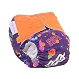 #6: Superbottoms Cloth Diapers - Superbottoms Plus Reusable AIO diaper with 2 Organic Cotton soakers and dry-feel [Day & Night Use]- FESTOON!