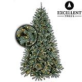 Excellent Trees Weihnachtsbaum LED Uppsala 180 cm mit Beleuchtung - Luxusedition - 280 Lämpchen