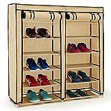 Deuba® großer Faltschrank Kleiderschrank Schuhständer Schuhschrank Textilschrank Schuhregal Schrank Camping Textilien
