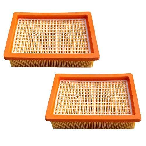 AM 2x HEPA Filter für Kärcher MV4 MV5 MV6 WD4 WD5 WD6 Staubsauger Flachfalten Filter Ersetzt 2.863-005.0 / 28630050