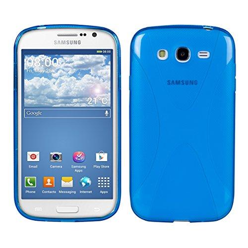 kwmobile Samsung Galaxy Grand Neo/Duos Cover - Custodia in Silicone TPU per Samsung Galaxy Grand Neo/Duos - Back Case Protezione Posteriore Cellulare Blu