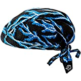 ZANheadgear Flydanna 100 Percentage Polyester Lightning Vented Sport Bandanna (Mesh Blue) by Zanheadgear