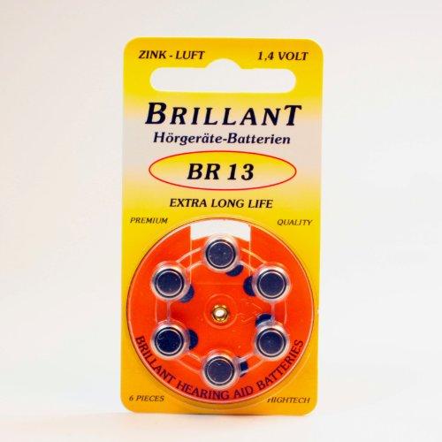 60 x Brillant BR 13 (Typ13, ZL13, PR48) orange Hörgerätebatterien [Elektronik]
