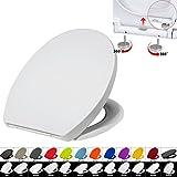 WC Sitz mit Absenkautomatik #22, Kunststoff, Fast Fix/Schnellbefestigung, Softclose, Antibakterielle Beschichtung, Weiß, 2423