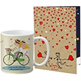 VESPL Printed Coffee Mug With A4 Greeting Card Full Printed -0013