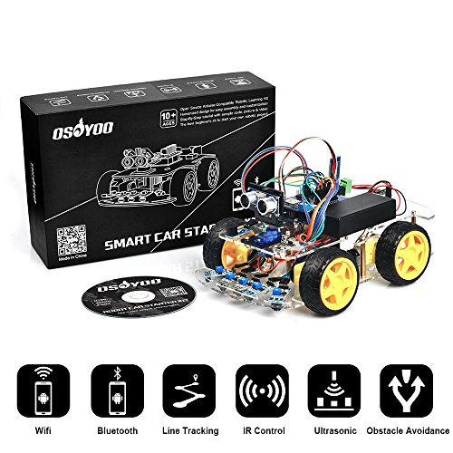 Electronic Control Assembly (OSOYOO Arduino Robot Car Kit UNO R3 4WD WiFi Bluetooth IR Line Tracking DIY Car set Education Toys Christmas Gifts for Kids Android Remote Control Electronic Learning Kit with Tutorial)