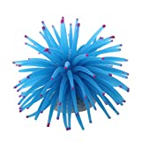 SODIAL(R)Plante artificielle Decoration Anemone en plastique souple Aquarium reservoir de poissons Couleur Bleu