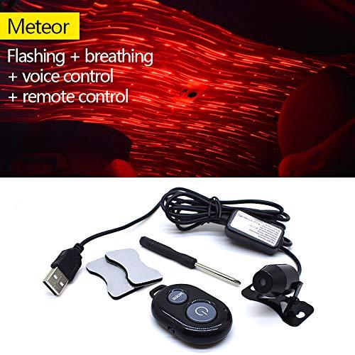 Preisvergleich Produktbild STYLINGCAR Auto Innenraum Innenraumbeleuchtung LED Sternenhimmel Projektor USB Port Autoladegerät IR und Stimmensteuerung