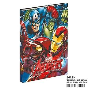 Avengers- Carpeta A4 con Gomas (Montichelvo 54293)