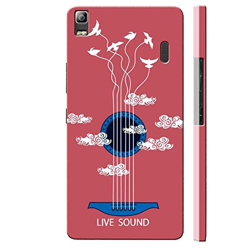 SHAIVYA Designer Soft Cover Having Excellent Printing Live The Sound TPU (Rubber) Printed Back Cover Compatible with Lenovo K3 Note