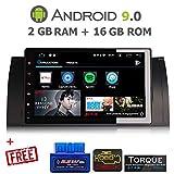 GÜMÜ-PX5PROAT04-Autoradio Serie 3 E39, E53 X5 Android 8.0 GPS Navigation 9 Zoll Touchscreen WiFi, Bluetooth, USB-Port